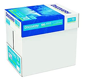Discovery NDI0700025 - Papel para impresora (70g/m², A4, 5 paquetes de 500 hojas), color blanco