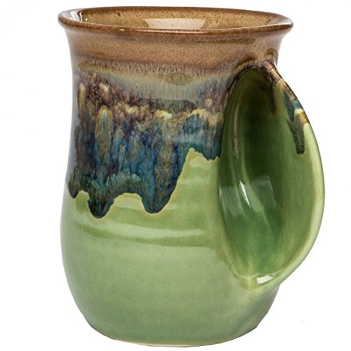Clay in Motion Handwarmer Mug - Mountain Meadows - Right Handed