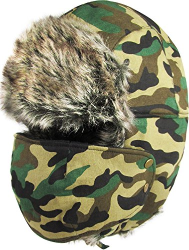 619 Cam - KBW-619 CAM Solid Mask Trooper Trapper Hat Winter Cap