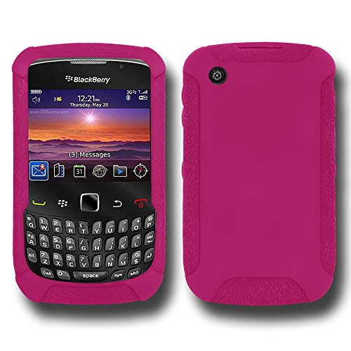 Amzer Silicone Skin Jelly Case for BlackBerry Curve 3G 9300, Curve 8520, and Curve 8530 - Hot ()