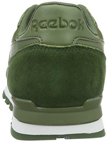 Reebok Herren Classic Leather Clip Ele Low-Top Grün (moss Green/primal Green/canopy Green)