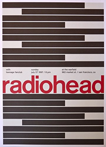 Radiohead - Live at The Warfield - Concert Gig Poster - 10