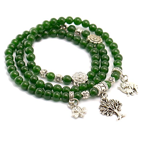 Tibetan Elephant Birthstone Bracelet Necklace