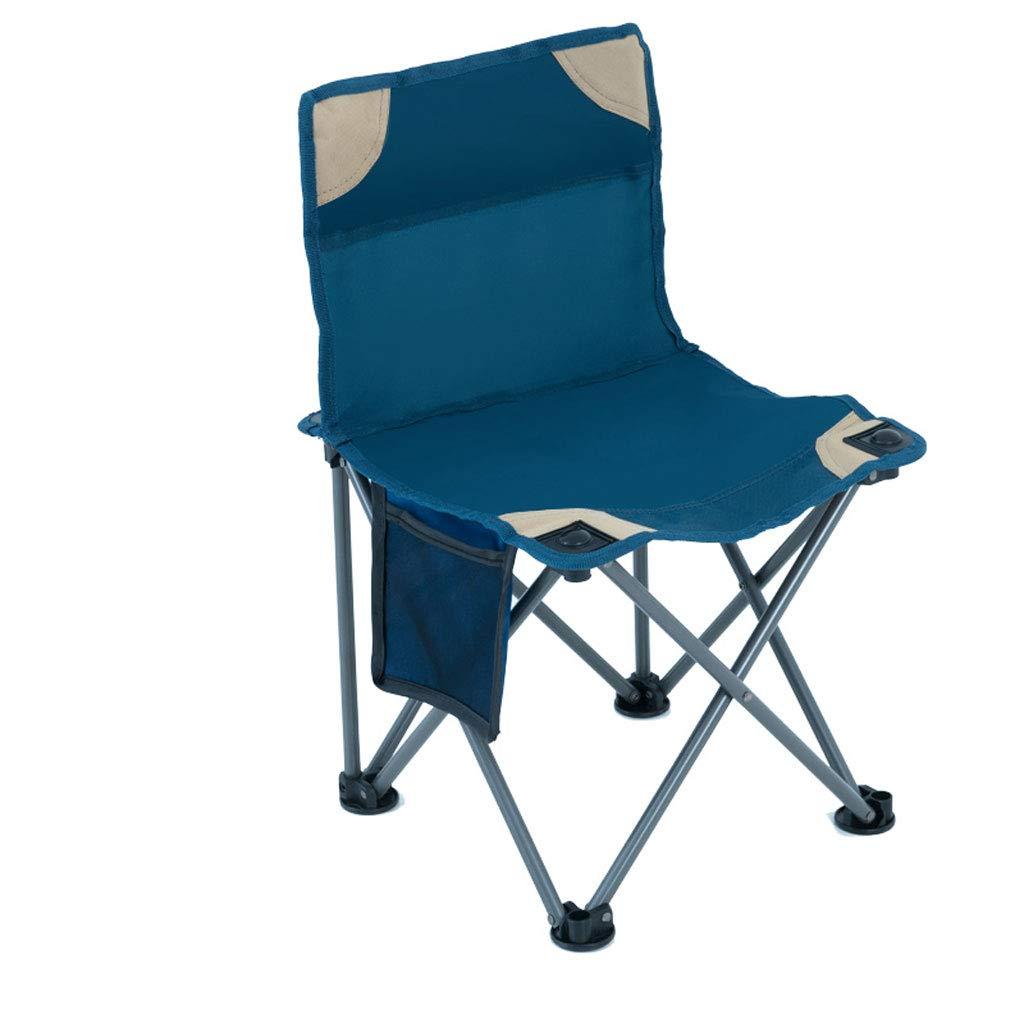 Campingstuhl Tragbarer Klappstuhl im Freien Kompakter Angelstuhl Skizzieren von Hocker von Mazar Stabiler Rückenlehnenstuhl