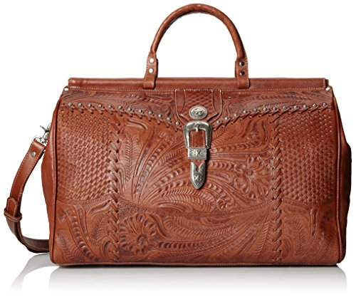 American West Retro Romance Duffel Bag,Antique Brown,One Size (Tooled Leather Luggage)