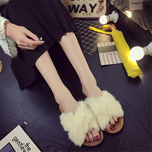 pour Crossover Chaussons Chaussures avec Femme Slip Plat YUCH White cq4j5RA3LS