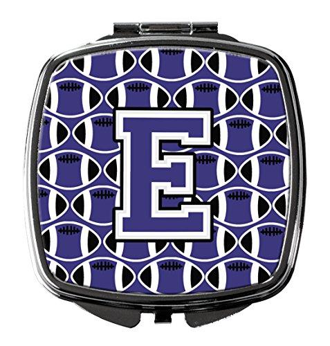 UPC 638508333780, Caroline's Treasures CJ1068-ESCM Letter E Football Purple and White Compact Mirror , , multicolor