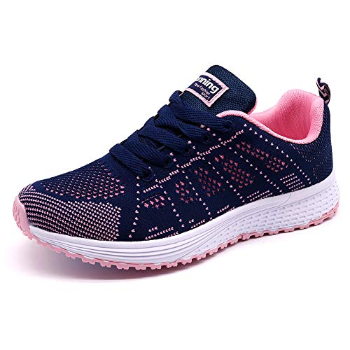 STQ Walking Shoes for Women Comfort Wide Sneakers Comfortable Athletic Tennis Running Shoes Work(A08lanfen35) Purple