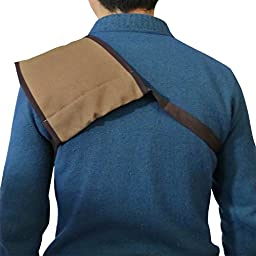 Tourbon Hunting Shooting Shoulder Protective Shooting Pad Recoil Shield - Canvas and Leather