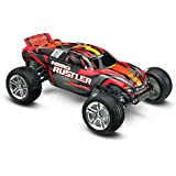 Traxxas Nitro Rustler: 2WD Stadium Truck with TQi 2.4 GHz Radio & TSM (1/10 Scale), Silver/Red