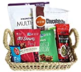 Gluten-Free Picnic Gift-Basket: Crackers, Chocolate Chip Cookies, Snacks all GF