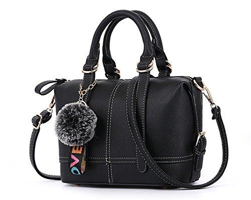 Bao Bolsos De Las Señoras Diagonal Shoulder Hand Trend Personalidad Bolsa Moda Zipper Bags Simple Pillow Pack, Brown Black