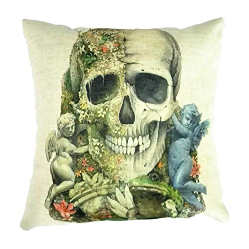 Halloween Decorations Dayseventh Halloween Pillow Case Sofa Waist Throw Cushion Cover Home Decor (Type 2)