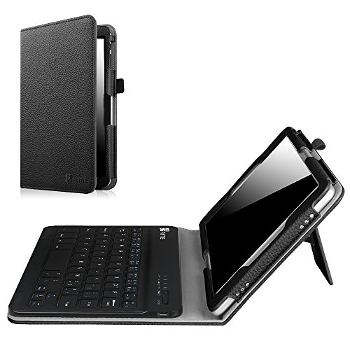 Fintie NuVision 8 Inch Tablet Keyboard Case, Folio PU Leather Cover with Removable Bluetooth Keyboard for 2016 NuVision TM800W560L / 2017 NuVision TM800P610L / Solo 8