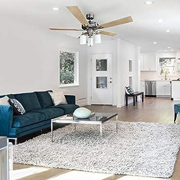 Design House 556621 Aubrey 3 Light Ceiling Fan 52 , Satin Nickel