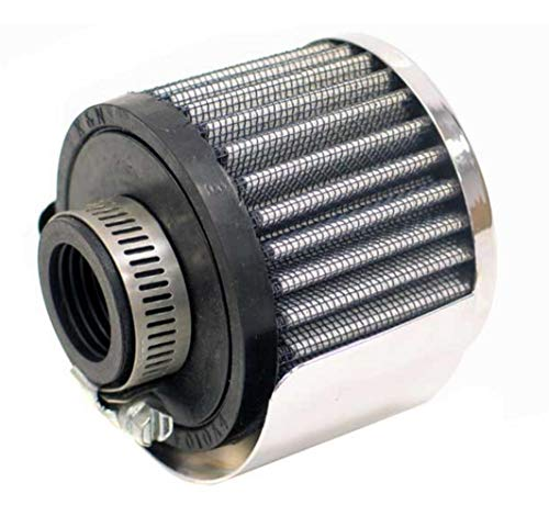 K&N Engineering 62-1511 Rubber Base Crankcase Vent Filter with Shield - 1in. ()