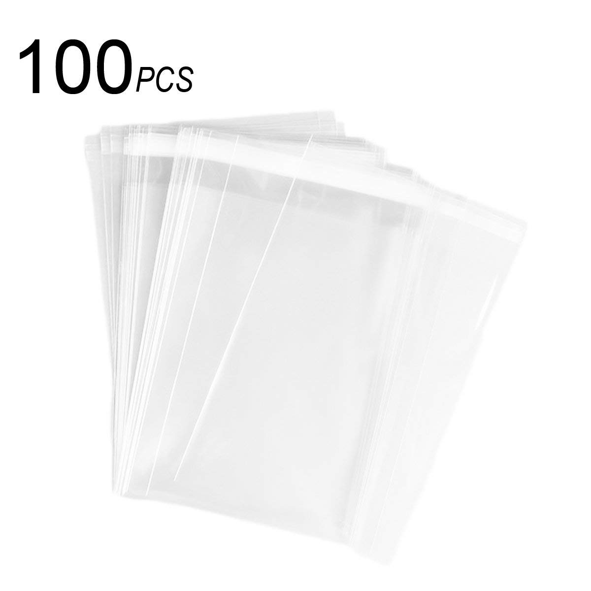 Soap Candle Cookie 100 Pack 8.5x12 Inch Clear Resealable Cello//Cellophane Bags for Bakery