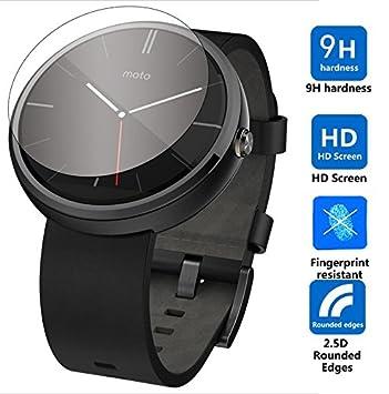 Nillkin Motorola Moto 360 Smartwatch Vidrio protector de la pantalla (2 piezas) 9H*2.5D Round Edge de verdadero cristal - Protector de pantalla - ...