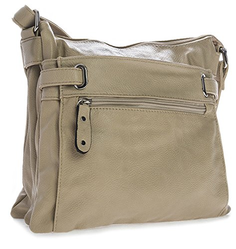 Bags Medium special Messenger Cross Multi Pocket Beige Womens Design Body xOd8IOH
