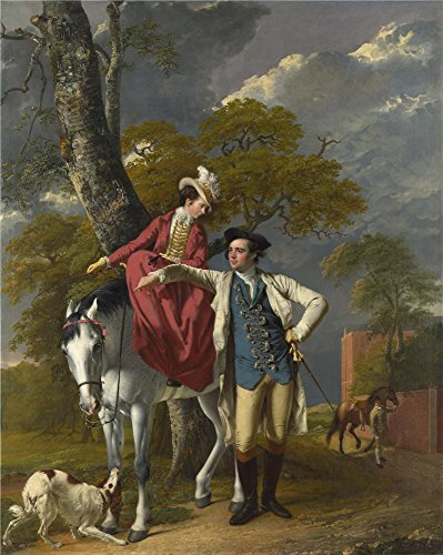 'Joseph Wright 'of Derby' Mr And Mrs Thomas Coltman ' Oil Painting, 8 X 10 Inch / 20 X 25 Cm ,printed On Polyster Canvas ,this Best Price Art Decorative Prints On Canvas Is Perfectly Suitalbe For Gym Decor And Home Decoration And Gifts (Wright Steamer)