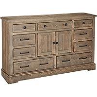 Progressive Furniture P632-24 Meadow Door Dresser, 66 x 18 x 40, Grey