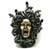 Veronese Medusa Head of Snakes Gothic Wall Plaque Décor Statue Bronze Finish 14.57''