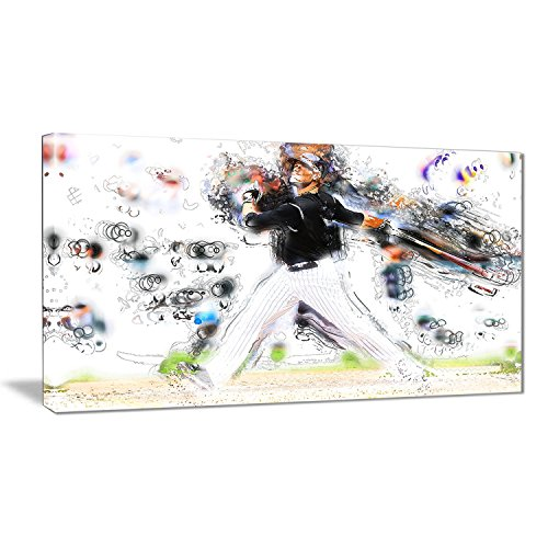 Baseball Large Framed Print (Digital Art PT2549-32-16