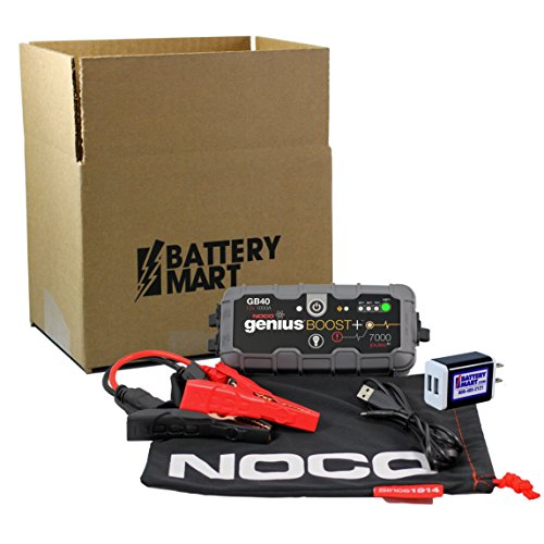 NOCO-Genius-Boost-Plus-GB40-1000-Amp-12V-UltraSafe-Lithium-Jump-Starter-AND-Universal-2-Port-USB-Wall-Charger