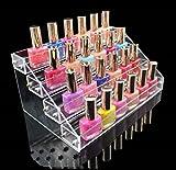 1 Racks Grand Popular Hot Nail Polish Organizers Travel Case Storage Makeup Cube Box Color Transparent 4 Tier Style #06