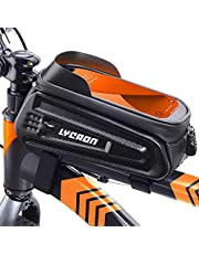 LYCAON Bike Frame Bag (Classic) Fiets Top Tube Pouch, Waterdichte Mobiele Telefoon Case Cycle Mount met Touch Screen Venster, voor iPhone Samsung HUAWEI Smart Phone