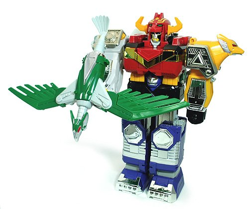 Vintage Power Rangers Lost Galaxy Megazord with Sword and Condo Bow & Arrow Action 1998