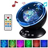 Sprise Night Light Projector with Built-in Mini Music Player for Living Room and Bedroom(12 LED &7 Colors)