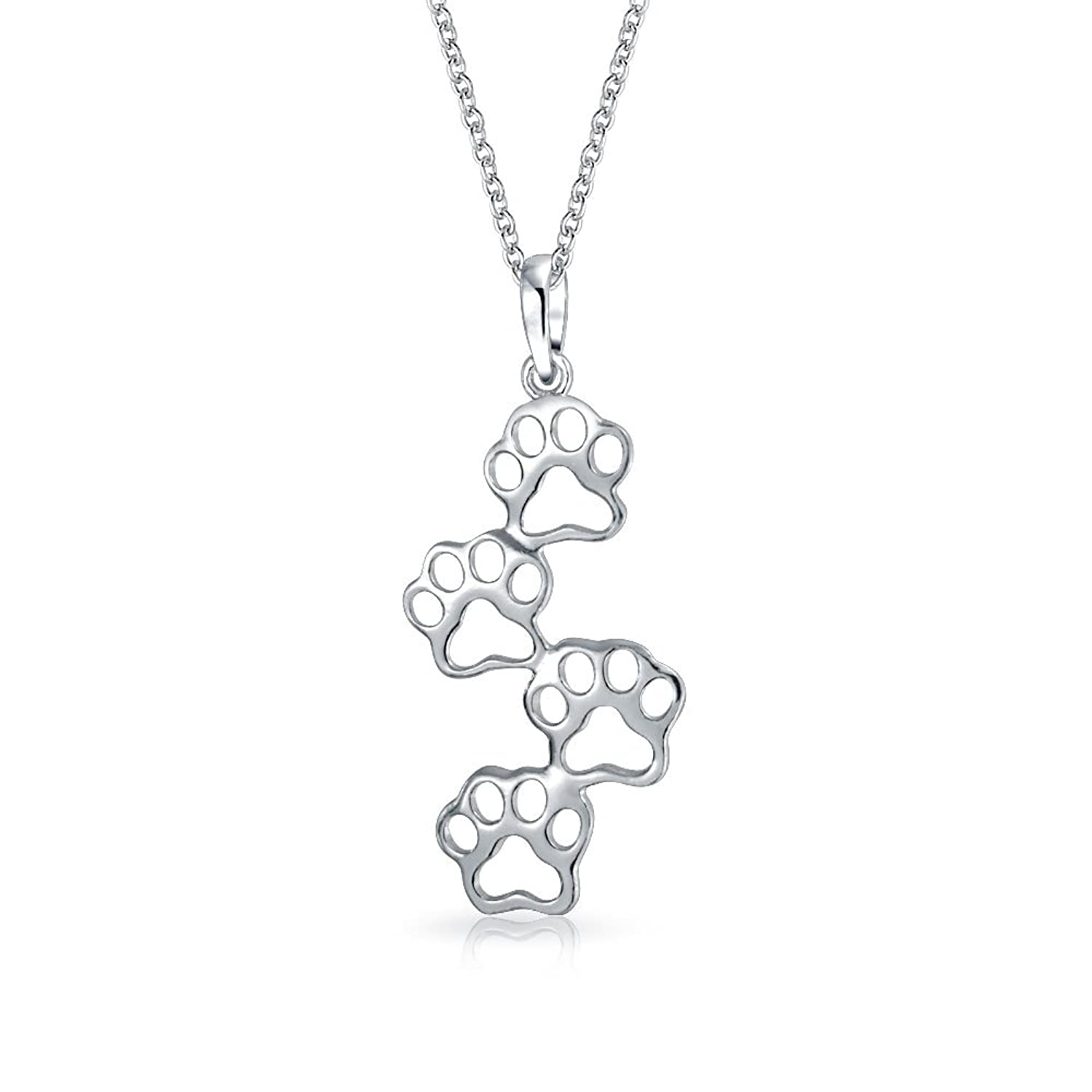Bling jewelry animal paw print pendant sterling silver necklace 18 bling jewelry animal paw print pendant sterling silver necklace 18 inches amazon jewellery mozeypictures Gallery