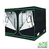 Quictent SGS Approved Eco-Friendly 96'x96'x78' Reflective Mylar Hydroponic Grow Tent with Obeservation Window and Waterproof Floor Tray for Indoor Plant Growing 8'x8'