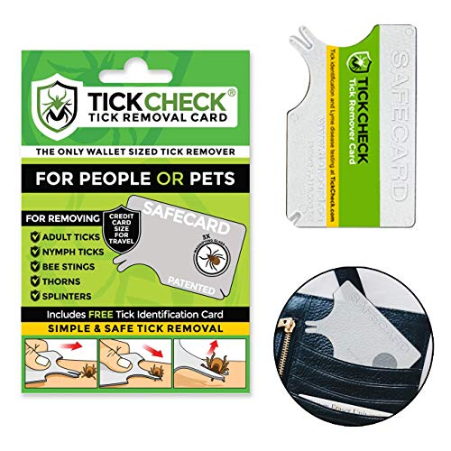 TickCheck Tick Remover Card - Wallet Sized Tick Removal Tool (1 Pack) ()