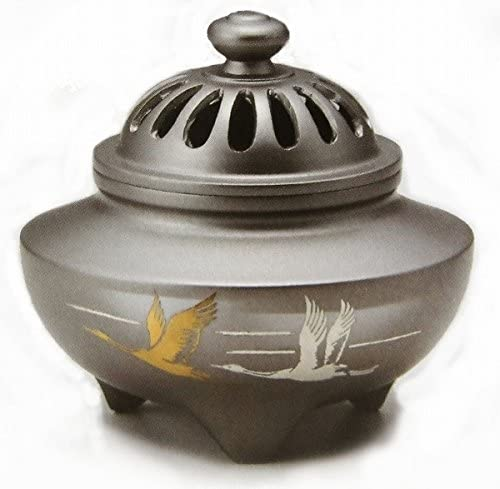 『玉利久双鶴香炉』銅製