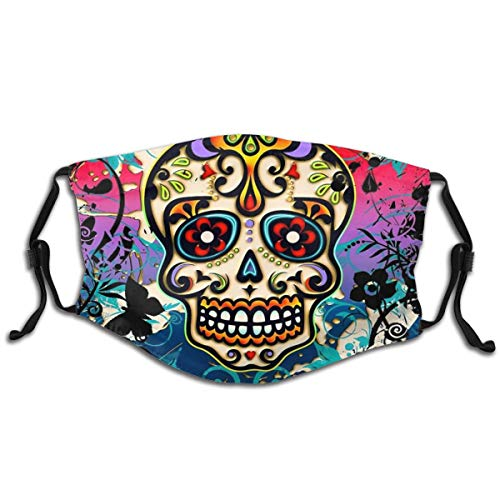 Adjustable Facial Decorations Reusable Fashion Design Mexican Sugar Skull