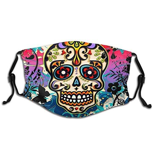 Adjustable Facial Decorations Reusable Fashion Design Mexican Sugar Skull
