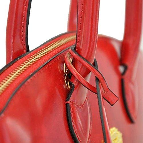 Pratesi Versilia R kleine Damentasche - R348/P Radica (Braun) Rosa