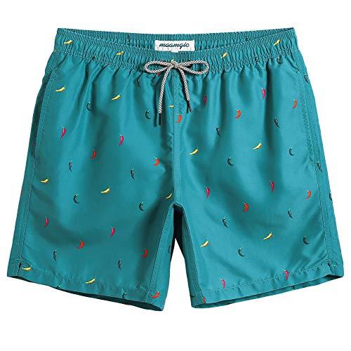 Mens Swim Trunks Suit - MaaMgic Mens Boys Short Swim Trunks Funny Mens Bathing Suits Swimming Trunks Slim Fit Swim Shorts Swimsuit for Men