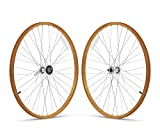 Firmstrong 1-Speed Beach Cruiser Bicycle Wheelset, Front/Rear, Orange, 26'