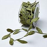 OZXCHIXU(TM) 10 Meters Olive Green Leaf Trim Satin