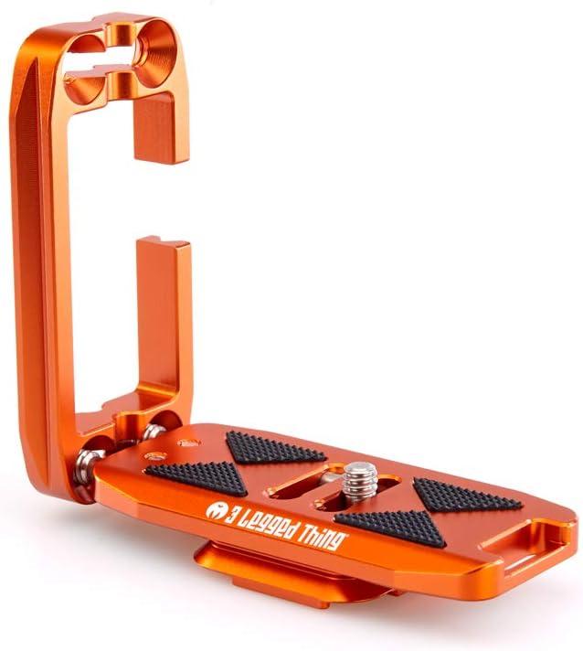 3 Legged Thing Ellie PD Universal L-Bracket Compatible with Peak Design Capture - Copper (Orange)