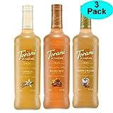 Torani Signature Variety 3 Pack, Signature Vanilla, Signature Hazelnut & Signature Irish Cream