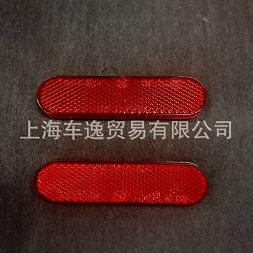 junda Oval Reflector E-Mark Certified Back Reflector Retroreflector Red