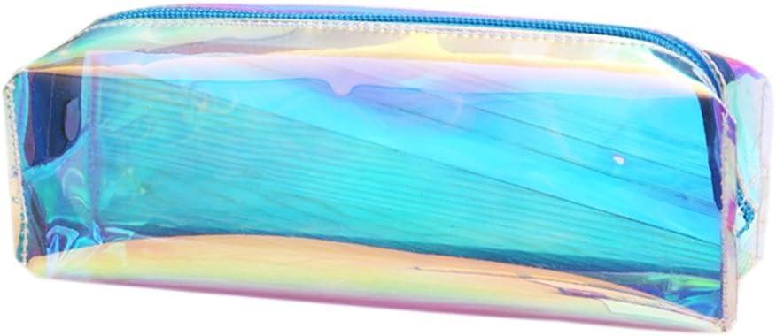 bleu Trousse /à paillettes Fablcrew pour crayons rangement de cosm/étique ou de monnaie pinceaux maquillage 20 X 9 X 6cm