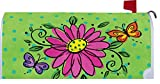 Whimsy Daisy - Mailbox Makeover Cover - Vinyl with Magnetic Strips for Steel Standard Rural Mailbox - Copyright, Licensed and Trademarked by Custom Decor Inc.