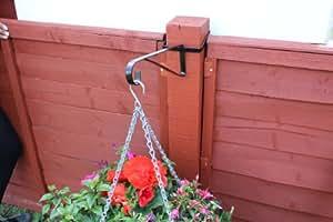 6x soportes para colgar cesta para postes de madera macetas colgantes