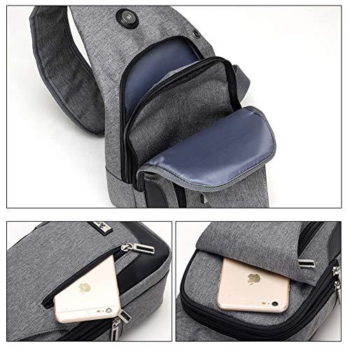 Charging For With Chest Bag Blue Usb Women shoulder Wind Men Bags crossbody Goal Sling Port Daypack Backpack amp; PCWqfE