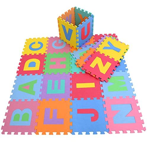 PowerTRC® Puzzle Foam Mat with Alphabet and Numbers (36 Tiles)